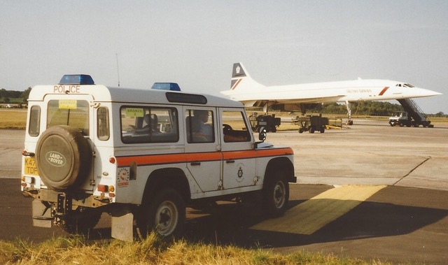 Bronze 2 at International Air Tattoo in 1997 with Concorde. (Gloucestershire Police Archives URN 8165)  | Photograph from David Morgan