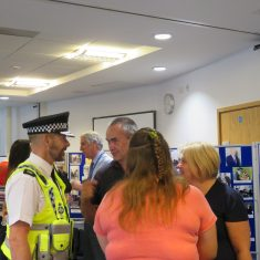 The Chief Constable talked to people in the archives. (Gloucestershire Police Archives URN 8228)
