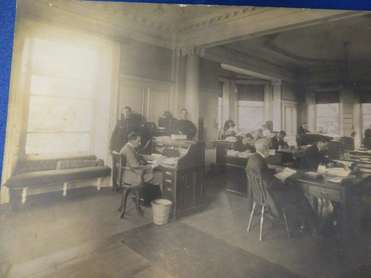 Headquarters 1920 with Woman Police Constable Hagley in the picture (Gloucestershire Police Archives 8237)