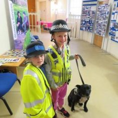 Stella made friends at the Archives during the Crown Court Open Day. (Gloucestershire Police Archives URN 8215)