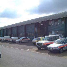 Bamfurlong Vehicle Workshops. (Gloucestershire Police Archives URN 8262)