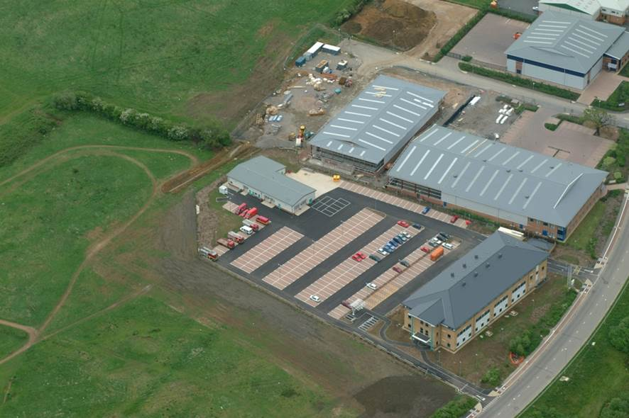 Waterwells aerial view of Tri Service Centre. (Gloucestershire Police  Archives URN 8271)