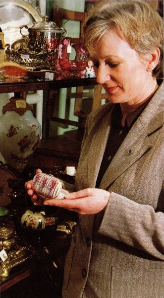 Detective Constable Trish Fawcett nominated Art and Antiques officer 1998. (Gloucestershire Police Archives URN 8410)