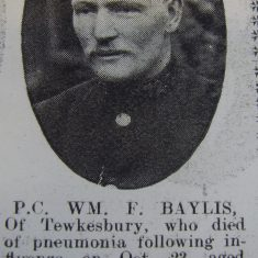 Police Constable 72 William Bayliss. (Gloucestershire Police Archives URN 8494)