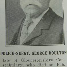 Police Sergeant George Boulton. (Gloucestershire Police Archives URN 8500)