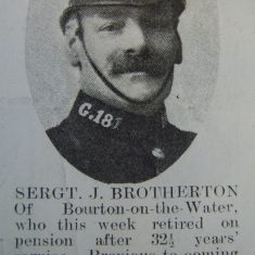 Police Sergeant 181 Joseph Brotherton. (Gloucestershire Police Archives URN 8505)