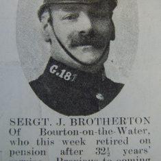 Police Sergeant 181 Joseph Brotherton. (Gloucestershire Police Archives URN 8505)