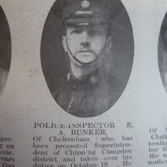Inspector 342  Edward Bunker. (Gloucestershire Police Archives URN 8511)