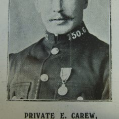 Police Constable 150 Edgar Carew 1914. (Gloucestershire Police Archives URN 8513)