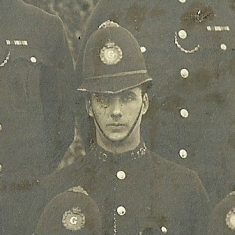 Police Constable 112 William HS Coates. (Gloucestershire Police Archives URN 8522)