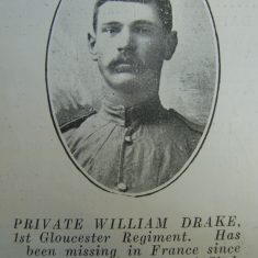 Police Constable 221 William Drake. (Gloucestershire Police Archives URN 8549)