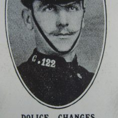 Police Constable 122 Arthur Fluck awarded Silver Braid for stopping a runaway horse on 28th February 1918. He was also awarded the Silver Braid as a sergeant  on 4th March 1920 for courage at a fire. (Gloucestershire Police Archives URN 8561)