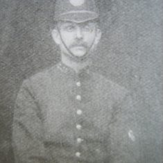 Police Constable Edward Gabb of Horsley formerly Cheltenham died suddenly 26-11-1907 aged 44. (Gloucestershire Police Archives URN 8565)