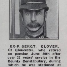 Sergeant 169 William Glover. (Gloucestershire Police Archives URN 8569)