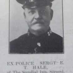 Police Sergeant Edward  Hale. (Gloucestershire Police Archives URN 8579)