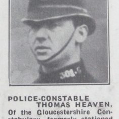 Police Constable 301 Thomas Heaven 1924. (Gloucestershire Police Archives URN 8591)