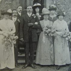 Police Constable Arthur Howley. The wedding of Police Constable AW Howley a member of the Cheltenham Force and Miss Clara Elizabeth Whitfield of Cheltenham took place at St Paul's Church Cheltenham on February 24th 1914. (Gloucestershire Police Archives URN 8603)