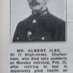 Reserve Constable 359 Albert Iles. (Gloucestershire Police Archives URN 8607)