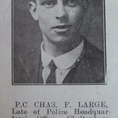 Police Sergeant Charles Frederick Large. (Gloucestershire Police Archives URN 8630)