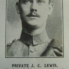 Police Constable 168 John Cadwalliter Lewis. (Gloucestershire Police Archives URN 8634)