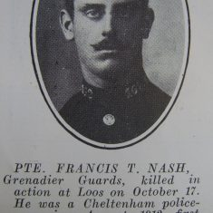 Police Constable 162 Francis Nash. (Gloucestershire Police Archives URN 8647)