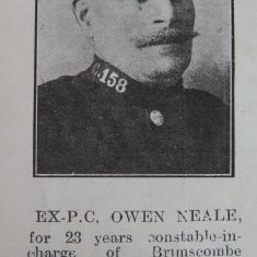 Police Constable 158 Owen Neale. (Gloucestershire Police Archives URN 8648)