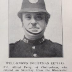 Police Constable 125 Alfred Perry. (Gloucestershire Police Archives URN 8659)