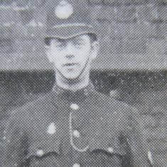 Police Constable 173 Oliver Ruck awarded Silver Braid  on 17th September 1920 for stopping a runaway horse. (Gloucestershire Police Archives URN 8675)