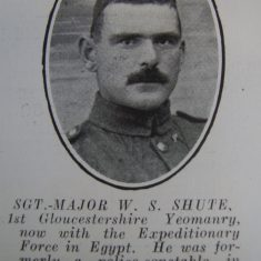Police Constable 252 William Silas Shute. (Gloucestershire Police Archives URN 8684)