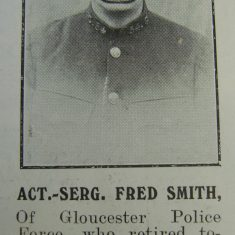 Acting Sergeant 54 Frederick Smith. (Gloucestershire Police Archives URN 8687)