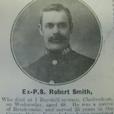 Police Sergeant 150 Robert Smith (Gloucestershire Police Archives URN 8691)