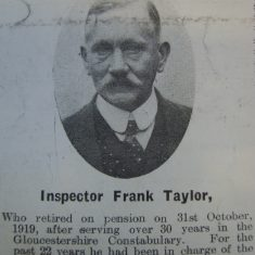 Inspector Frank Taylor (Gloucestershire Police Archives URN 8700)