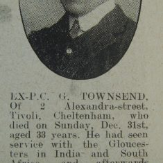Police Constable George Townsend. (Gloucestershire Police Archives URN 8706)