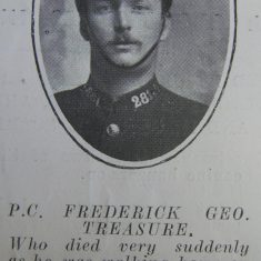 Police Constable 281 Frederick Treasure. (Gloucestershire Police Archives URN 8707)