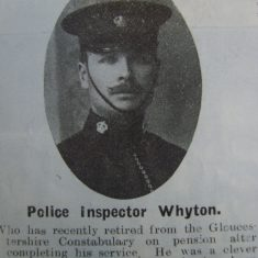 Inspector John Whyton. (Gloucestershire Police Archives URN 8717)