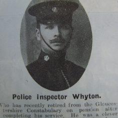 Inspector John Whyton. (Gloucestershire Police Archives URN 8717)