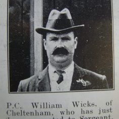 Police Sergeant William Wicks. (Gloucestershire Police Archives URN 8719)