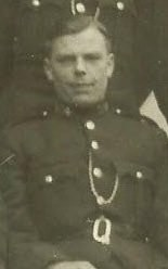Police Constable 10 Albert Carter awarded Silver Braid for stopping a runaway horse on 21st January 1941. (Gloucestershire Police Archives URN 8744)