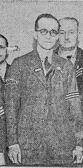 Special Constable William F Prisk awarded Silver Braid on 2nd November 1939 for gallant action in saving life from fire also awarded a Medal from Society of Protection of Life. (Gloucestershire Police Archives URN 8753)