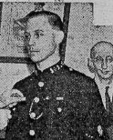 Police Constable Victor Bullock awarded Silver Braid on 2nd November 1939 for gallant action in saving life from fire also awarded a Medal from Society of Protection of Life. (Gloucestershire Police Archives URN 8755)
