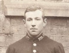 Police Constable 277 William Lester awarded Silver Braid for arresting an absentee on 7th June 1918. (Gloucestershire Police Archives URN 8757)