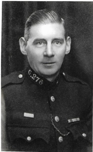 Police Constable 276 Victor Isaac JAMES who served with the constabulary and a the outbreak of war at the age of 19 enlisted and served through the war to rejoin Gloucestershire constabulary upon his return. He serve in various county stations but most notably in Tetbury where he stopped a runaway horse in the town, on 05/02/1929, for which received the Silver Braid. (Gloucestershire Police Archives URN 8800) | Photograph from Tommy Cooper