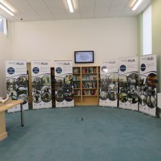 Our display for the official opening of the Gloucestershire Heritage Hub by Her Royal Highness the Princess Royal on 8th January 2019. (Gloucestershire Police Archives 8898)