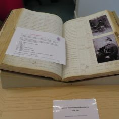 Details for Charles Mason on display in the Heritage Hub for the official opening by Her Royal Highness Princess Anne. (Gloucestershire Police Archives 8899)