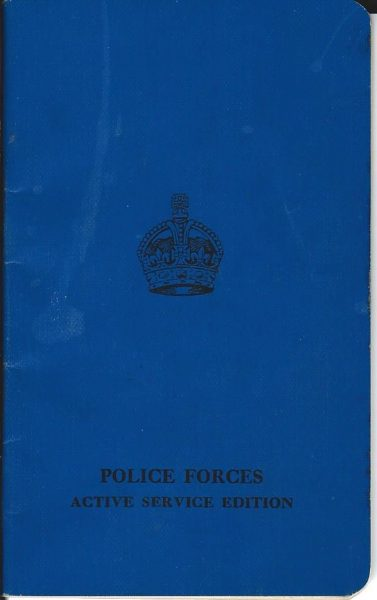 The Gospel According to St John as issued to Police Forces at the start of  World War 2 Issued to Inspector Harry Creed of Cheltenham Foreword by King George VI. (Gloucestershire Police Archives URN 2049)
