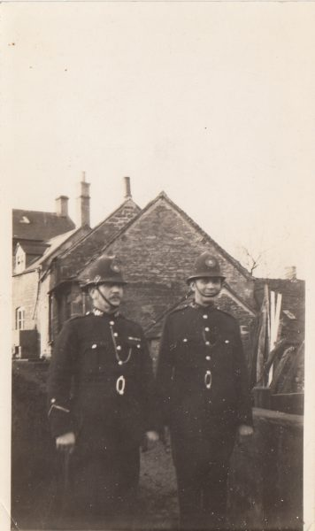 Police Constables Culverwell and Creed (Culverwell joined 22.4.1919 and Creed joined 22.4.1912. (Gloucestershire Police Archives URN 2115)