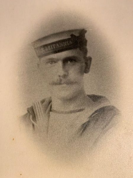 Ted Preece serving in the Royal Navy during the First World War on HMS Britannia. (Gloucestershire Police Archives URN 9017) | From Geoff North