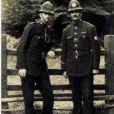 Eric George Jordan. Born 7th February 1904 joined the force in 1925. George Edward Jordan. Born  4th April 1880 joined the force in 1900. (Gloucestershire Police Archives URN 9130) | Photograph from Wendy Jordan