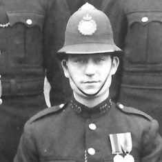 Police Constable 110 David Wagstaff. (Gloucestershire Police Archives URN 9298)