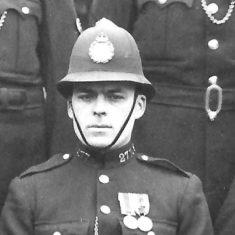 Police Constable 277 Victor Tuffley. (Gloucestershire Police Archives URN 9299)
